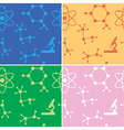 seamless patterns - molecules - set vector image