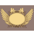 vintage emblem with wings vector image vector image