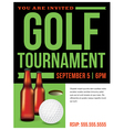 Golf Tournament Flyer Template vector image vector image