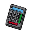calculator utensil work counting maths vector image