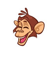 cartoon monkey head smiling vector image