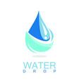 drop water logo vector image