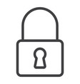lock line icon web and mobile security sign vector image
