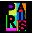 Paris City T-shirt Typography Graphics vector image
