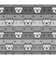 Seamless pattern of cats heads vector image
