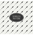 seamless retro pattern with vintage hipster arrows vector image