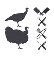 Silhouettes of a turkey vector image