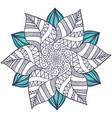 unique mandala in floral style circle zentangle vector image