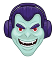 Vampire with headphones vector image