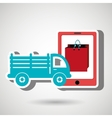 truck stake delivery vector image