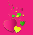 Valentines Day Card with colorfull hearts vector image vector image