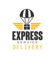 express delivery service logo design template vector image