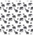 Seamless Pattern of Elephant vector image