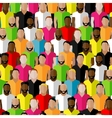 seamless pattern with men crowd flat of men vector image