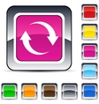 refresh square button vector image vector image