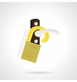 Handle door tag flat icon vector image