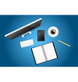 Creative workspace vector image