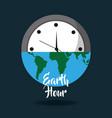 earth hour globe save energy world card vector image