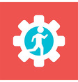 Gear Wheel with Running Man vector image