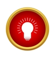 Glowing light bulb icon in simple style vector image