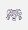 Goat Flat Line vector image