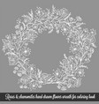 laurel wreath frame with roses vector image