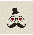 Moustached Mr vector image