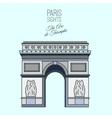 Paris Travel Image vector image