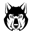 Wolf face symbol vector image