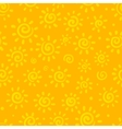 Sunny orange seamless pattern vector image