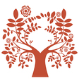 Spring tree red color vector image