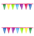 Watercolor party bunting isolated on white vector image vector image