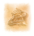 Christmas Grunge Background With Merry vector image vector image