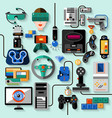 Gaming Gadgets Set vector image