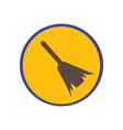 Sweeping broom vector image