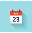 May 23  flat daily calendar icon Date and vector image