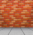 Background design with brick wall vector image