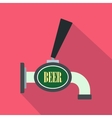 Beer tap icon flat style vector image