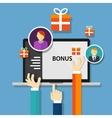 bonus employee reward benefits promotion offer vector image