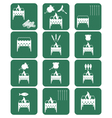 Brazier cooking icons set vector image