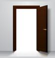 dark brown open door vector image