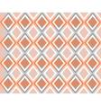Grey white orange background with rhombuses vector image
