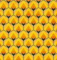 honey mosaic seamless pattern vector image