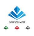 pyramid logo template vector image
