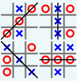 Scribble tic tac toe vector image