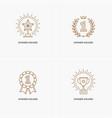 set of four linear winner awards vector image