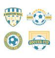 Soccer badge set vector image