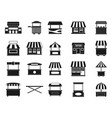 street shop icon set simple style vector image