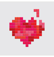 valentines day card video game red heart vector image