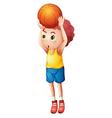 A young boy playing basketball vector image